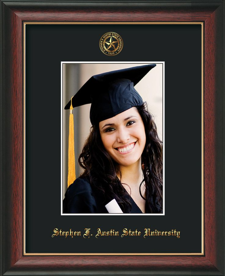 Stephen F Austin State 5 x 7 Rose Gold Lip photo frame w/black mat. – Professional Framing Company