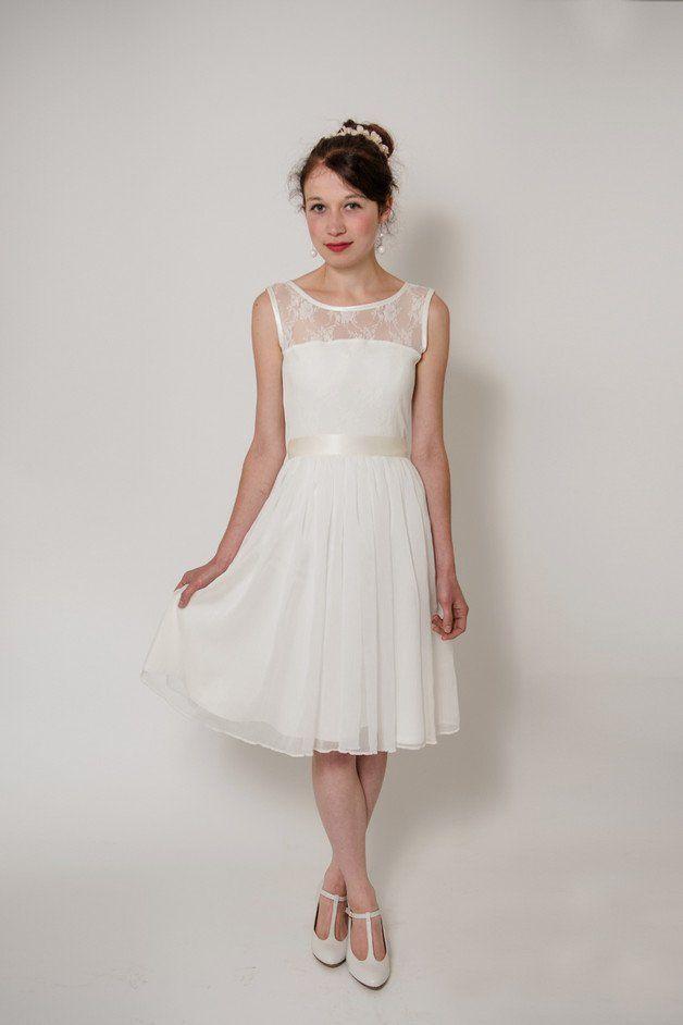 Ideen zu Brautkleid Kurz auf Pinterest  Hochzeitskleid vintage kurz ...