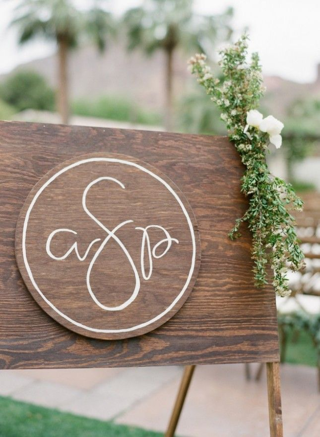 22 Modern Ways to Display Your Wedding Monogram via Brit + Co