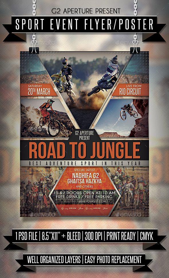 Sport #Event #Flyer / #Poster – Veranstaltungsflyer Hier herunterladen: graphicriver.net / ….
