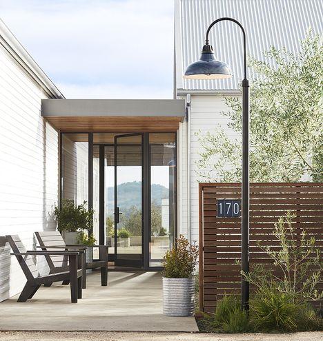 Carson Shepherd's Hook Post Light | Outdoor Warehouse Shades | Rejuvenation
