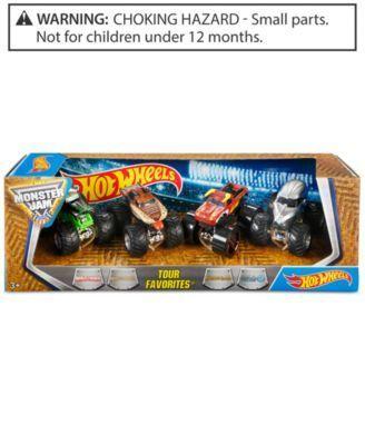 Mattel's Hot Wheels 4-Pk. Monster Jam Tour - Assorted