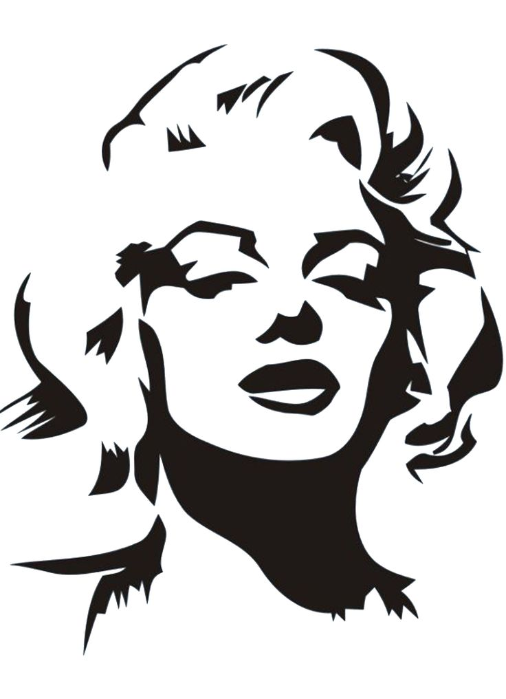 This is a picture of Irresistible Marilyn Monroe Drawing Outline