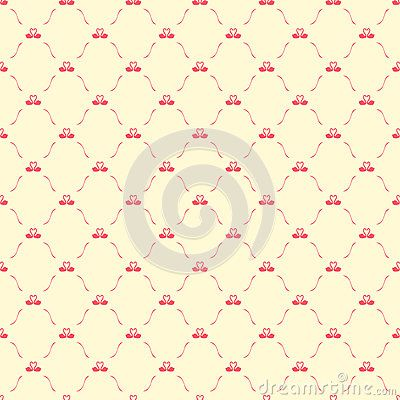 Romantic Seamless Pattern With Swans