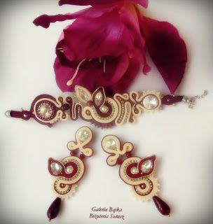"Galeria Bajka Soutache Jewelry: Komplet sutasz ""Portofino"""
