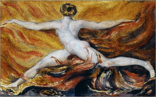 William Blake Oh! Furious Flames of Desires: Plate 3 of