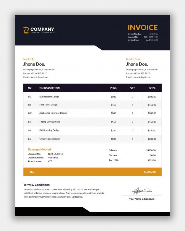 Simple Business Invoice Template Premium Psd Freepik Psd In 2020 Invoice Template Business Flyer Templates Business Template