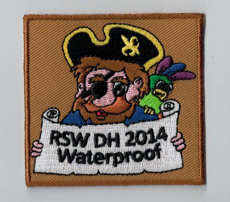 Be aware of the pirate! Every youth movement should have a patch like this as a camp memory. You can simply sew or iron it on your uniform. Upload your own design on ibadge.com!