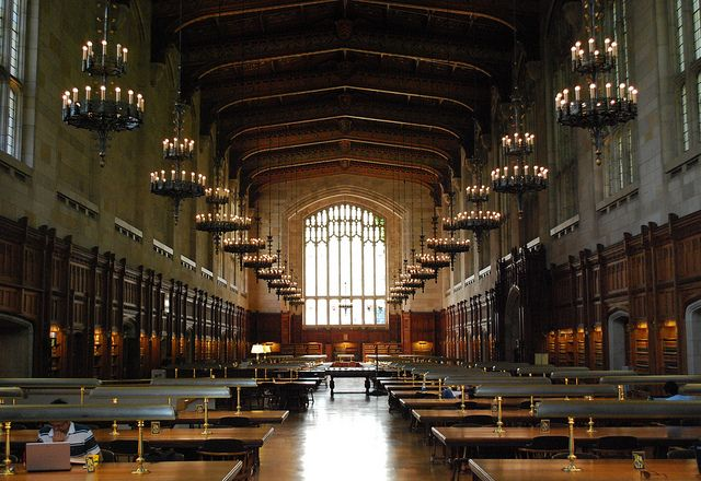 Looks like Hogwarts to me.  It's the University of Michigan's Law Library.  Beautiful!