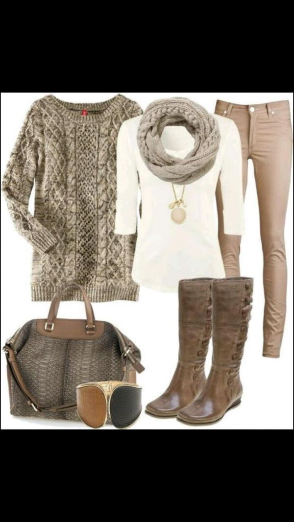 Chic holiday season outfit...minus the sweater