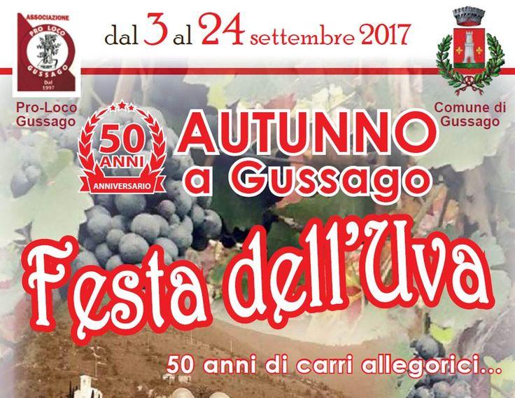 Programma del 50^ Autunno a Gussago e della Festa dell'Uva 2017 - http://www.gussagonews.it/programma-50-autunno-gussago-festa-uva-settembre-2017/