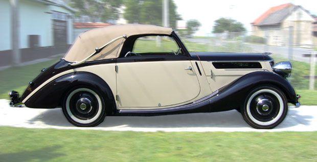 PRAGA PICCOLO 1128 kabriolet Carosserie SODOMKA r.v.1940