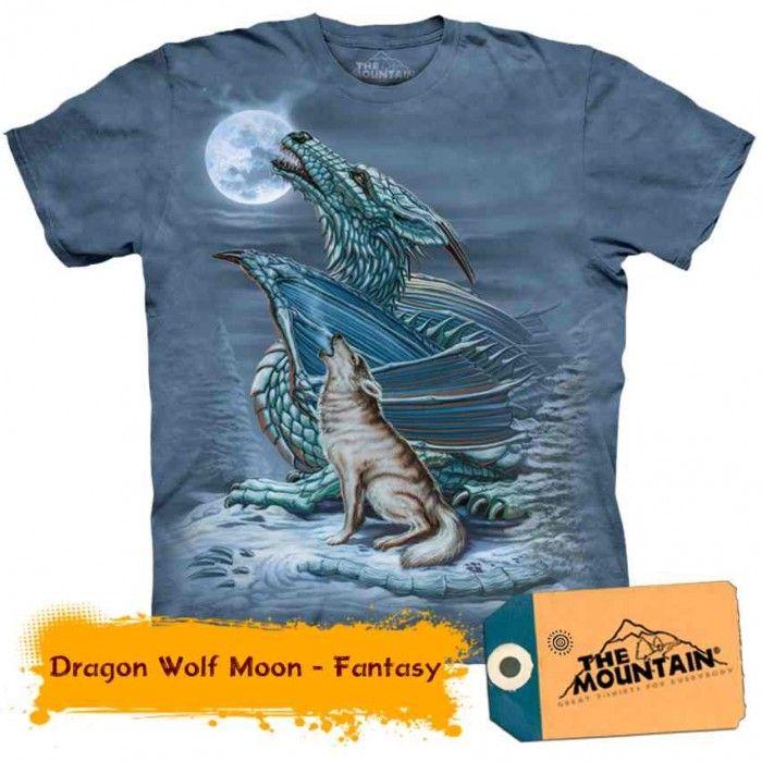 Tricouri The Mountain – Tricou Dragon Wolf Moon