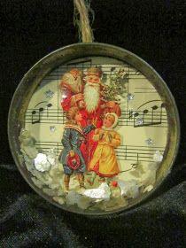 Bell jar lid ornaments