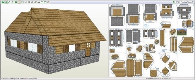 This Village House Paper Model In Minecraft Style Was