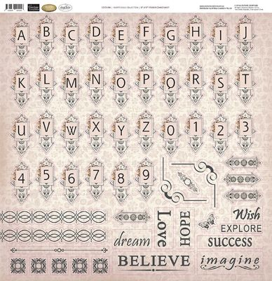 """Couture Creations 12""""x12"""" Sticker Sheet ~ Hearts Ease 
