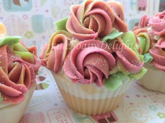 Cupcake soap Mothers day  Cupcake soap  1 by DivineSoapyDelights, $6.99