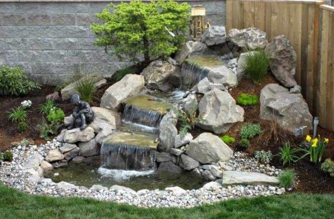 Resultado De Imagen Para Cascada De Piedras Backyard Water Feature Waterfalls Backyard Water Features In The Garden