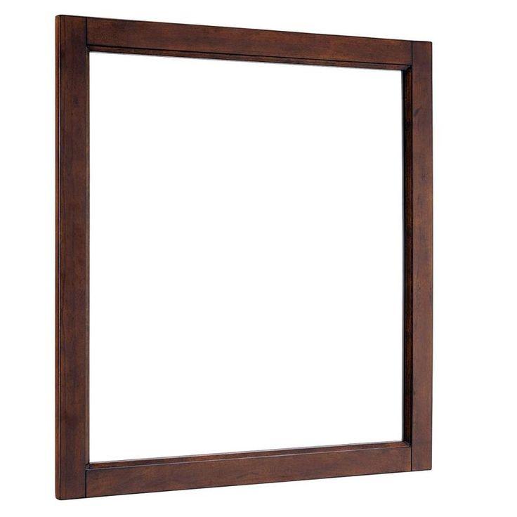 Scott Living Durham 28 In X 30 In Espresso Rectangular Framed Bathroom  Mirror 1328Mr 28 236