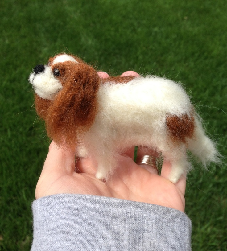 Made by my very artistic sister-in-law......looks just like our pup!  Needle Felted King Charles Cavalier by MyPinkSugarLife