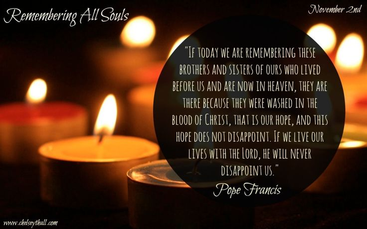 All Souls Day - the Words of Pope Francis