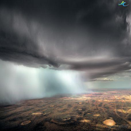 Rain sheets over Gascoyne