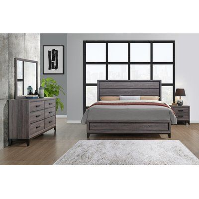 Williston Forge Jerold Solid Wood Standard Bed Wayfair Bedroom Furniture Sets Grey Bedroom Set Value City Furniture