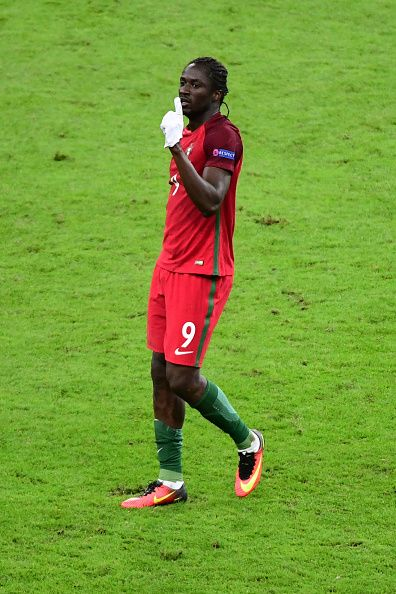 #EURO2016 Eder of Portugal celebrates his winning goal during the European Championship Final between Portugal and France at Stade de France on July 10 2016 in...