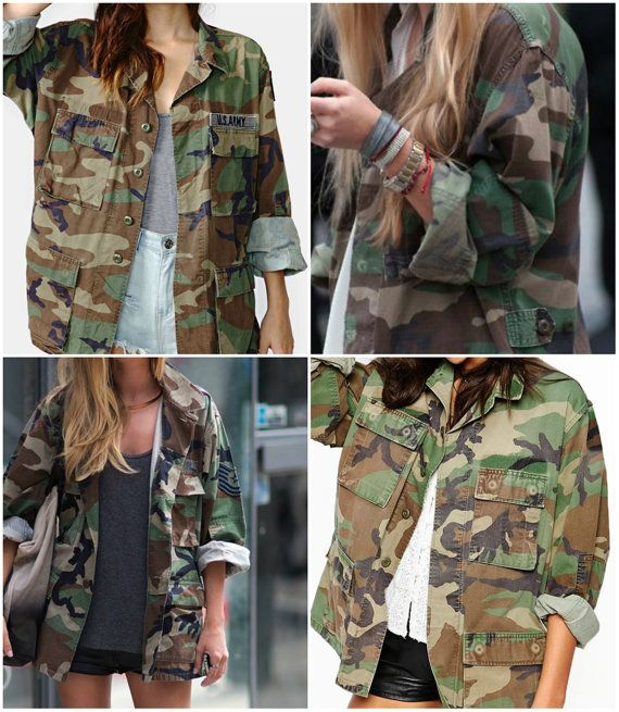Camo Jacket Vintage Army Jacket Military by FiregypsyVintage