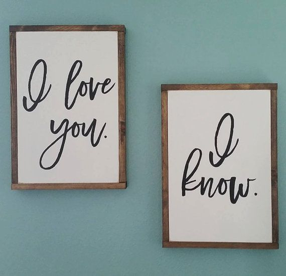 Custom I love you. I know. Star Wars by FeatheredArrowDesign