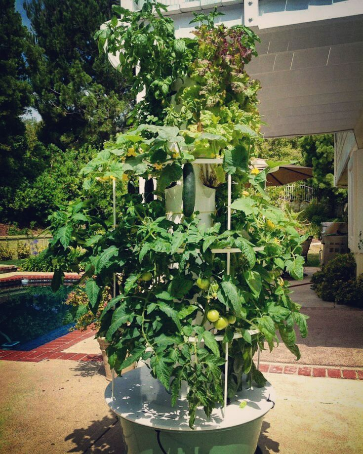 No soil less water less work!! Tower Garden by Juice Plus