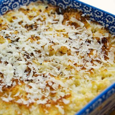 A classic recipe for home-style macaroni and cheese, this baked version calls for a mix of Parmesan and sharp cheddar that's sure to satisfy your craving for something comforting.