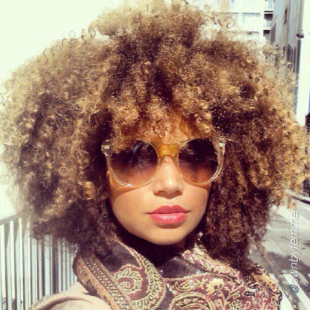 Galerry colored natural hair