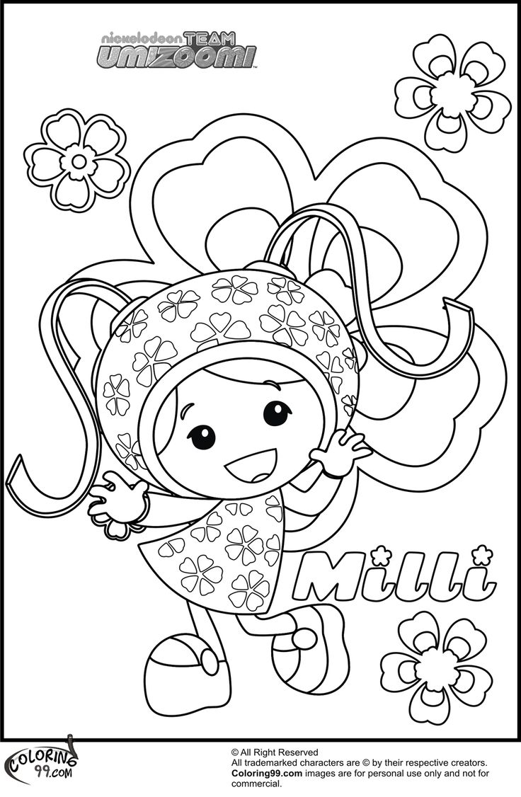 Coloring pages umizoomi