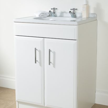 bq white vanity cabinet with doors 600mm 0000003367759