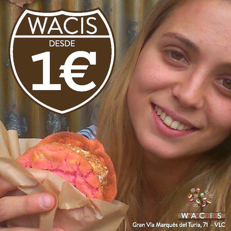 Wacis desde 1€ ¿Te apetece merendar con nosotros? #heladosArtesanales #helados #cookies #topping #wacis #valencia #granvia
