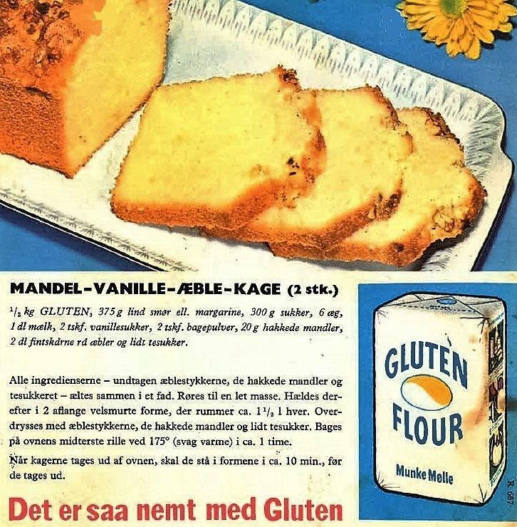 Mandel- Vanille- Æble- Kage ( 2 stk.)...