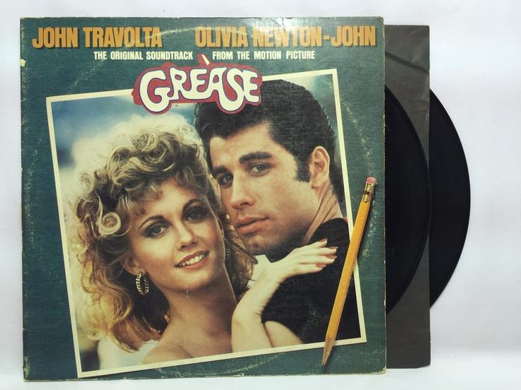Grease Original Soundtrack LP Vinyl #Records RSO RS-2-4002