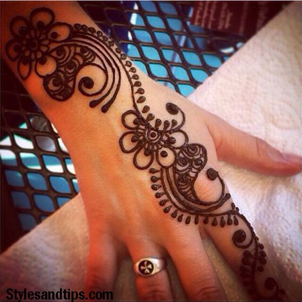 very simple arabic mehndi designs for kids front hand