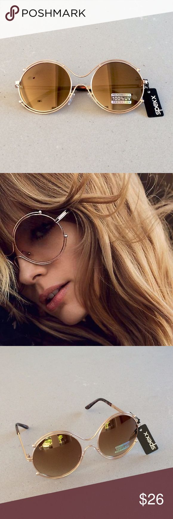 Oversized Brown Mirrored Sunnies These oversized brown mirrored sunnies are not only super cute but they are have 100% UV protection (UV 400 lens technology) 😎 spexx Accessories Sunglasses