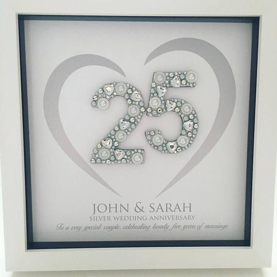 Silver Wedding Anniversary Gift 25th Anniversary Gift Etsy Silver Wedding Anniversary Gift Silver Wedding Anniversary Anniversary Frame