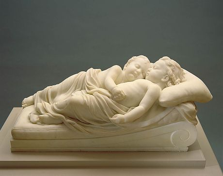 Sleeping Children by William Henry Rinehart / American Art