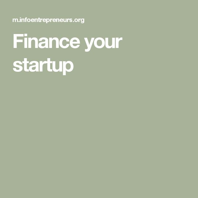 Finance your startup