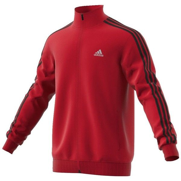Big & Tall Adidas Adidas Key Track Jacket ($48) ❤ liked on Polyvore featuring men's fashion, men's clothing, men's activewear, men's activewear jackets, med red, mens track jackets, mens activewear and mens track tops