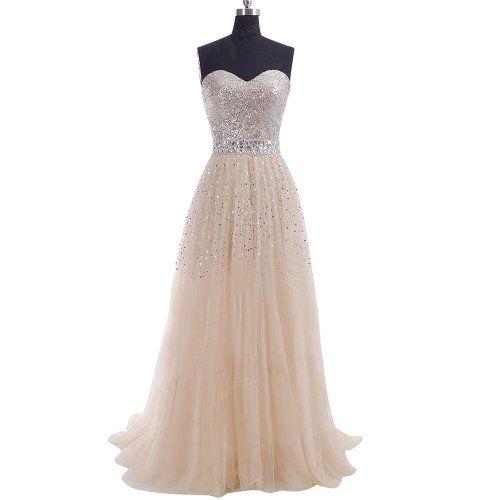 EMMALADY Champagne Prom Dresses Long... $89.00