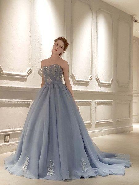 Cinderella & Co. (シンデレラ・アンド・コー) グレイッシュなブルーグレーの大人の上品カラードレス SS4592BG
