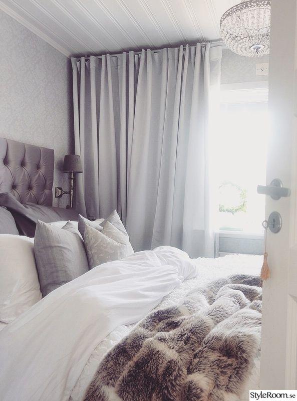 sovrum,säng,grått,sänggavel,lyx