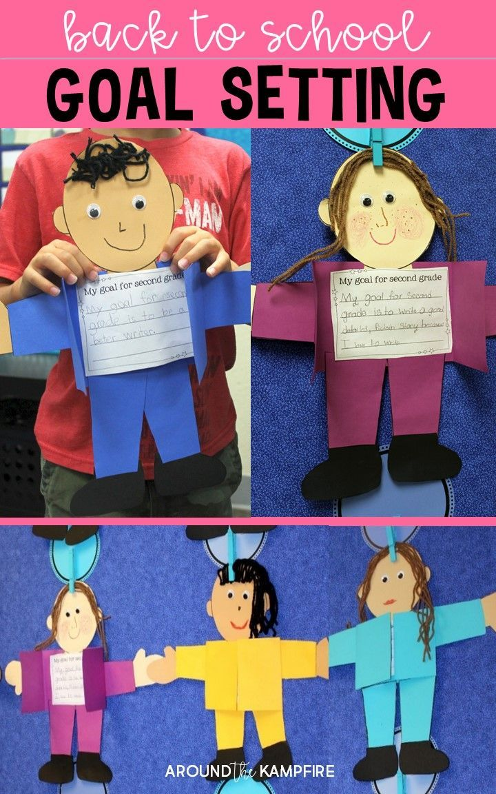 Setting learning goals at the beginning of a new school year helps keep students motivated and gives the teacher valuable insight into where they can offer extra support.  These goal setting kids are a fun activity for the first week of school and make a bright and colorful back to school craft and bulletin board display! Templates included for Kindergarten, 1st, 2nd, 3rd, 4th, and 5th grade plus Prep Year-Year 5.
