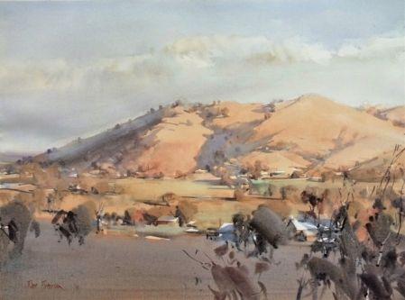 Balmattum Hill -WC 56 x 76 cm on location Feb 2016