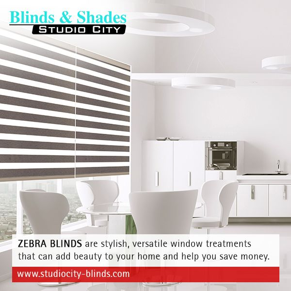 #ZebraBlinds are stylish, versatile #WindowTreatments that can add beauty to your home and help you save money. http://www.studiocity-blinds.com/